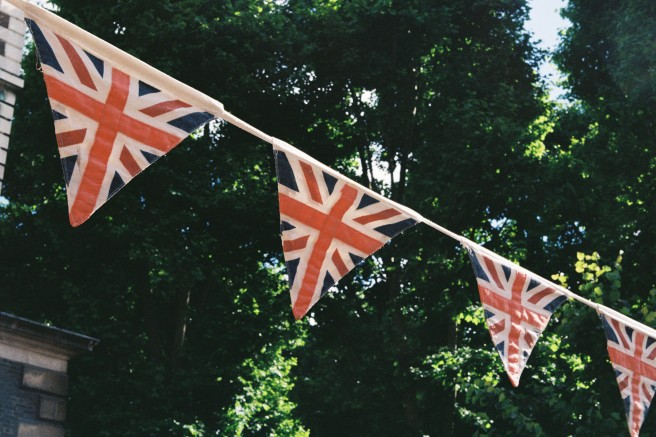 British flags were EVERYWHERE