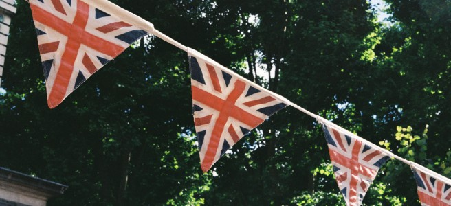 British flags were EVERYWHERE